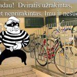 Kaip dviračius nuo vagių apsaugoti
